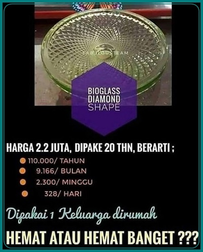 paket bioglass diamond shape