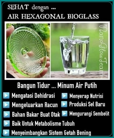 manfaat air heksagonal bioglass