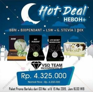 Hot Deal Heboh+ BBM Biopendant LSW Glucola